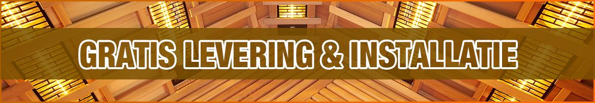 Gratis levering & installatie