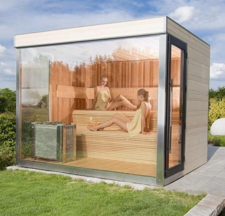 alpha outdoor sauna luxury sunspa sauna. Black Bedroom Furniture Sets. Home Design Ideas